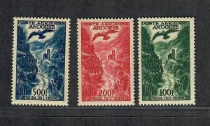 Andorra-French Sc#c2-c4 M/NH/VF-EF, Cv. $168.50