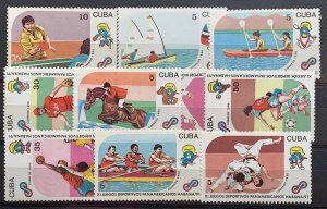 CUBA 1990 Sc# 3274-3283 11th PAN AMERICAN GAMES HAVANA Set x 10 MNH