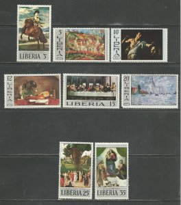 Liberia Scott catalog # 489-496 Unused Hinged See Desc