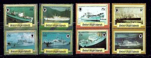 British Virgin Is 547-54 MNH 1986 Ships in pairs    (ap1140)