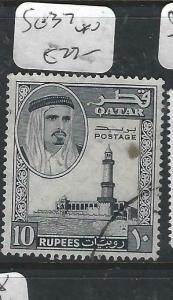 QATAR  (P0106B)  SHEIKH  10R  SG 37   VFU