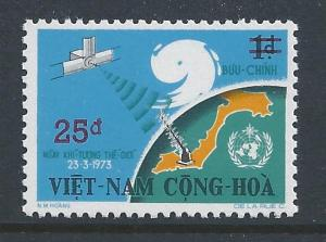 Viet Nam South #497 NH Meteorological Issue Surcharged 25...