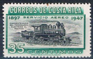 Costa Rica C159 MNH Locomotive 1947 (HV0138)