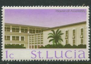 St. Lucia - Scott 261- House of Assembly -1970 - MNH -Single 1c Stamp