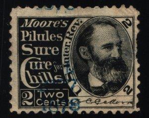 Scott #RS184d - 2c Black - Wmk 191R - Faults - Private Die Proprietary Stamps