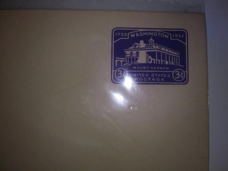 SCOTT # U526 WASHINGTON THREE CENT PURPLE MINT ENTIRE !!!