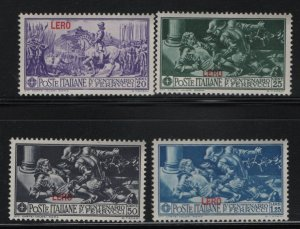 AEGEAN ISLANDS, 12-15, (4)SHORT SET, MNH, 1912-21, LERO