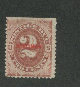 1884 United States Postage Due Specimen Stamp #J16S Mint No Gum