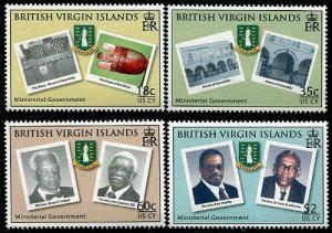 HERRICKSTAMP VIRGIN ISLANDS Sc.# 1090-93 Ministerial Government
