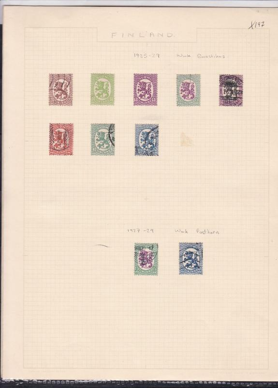 finland 1925-29  stamps page ref 18046