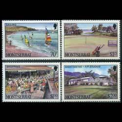 MONTSERRAT 1986 - Scott# 639-42 Tourism Set of 4 NH