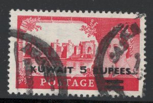 Kuwait 1955 Surcharge 5r on 5sh Scott # 118 Used