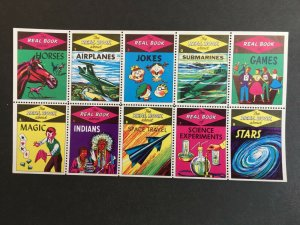 Real Book Series Labels/Stamps - Full Pane of 10