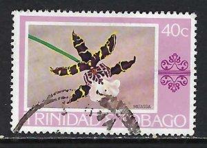 TRINIDAD & TOBAGO 286 VFU ORCHID X499-7