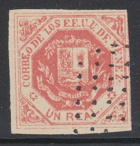 VENEZUELA  An old forgery of a classic stamp................................D733