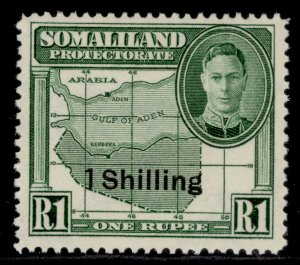 SOMALILAND PROTECTORATE GVI SG132, 1s on 1r green, M MINT.