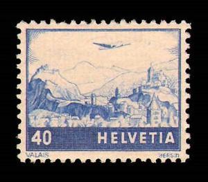 SWITZERLAND #C43-C44 MINT HINGED COMPLETE SET