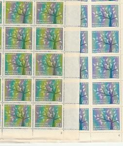 #852,853 Germany Europa Sheets of 50 w/margins Mint OGNH