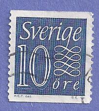 Sweden Scott #503 Numerals, CV $.20, Used