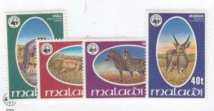 MALAWI # 319-322 VF-MNH WILDLIFE CAT VALUE $64.50