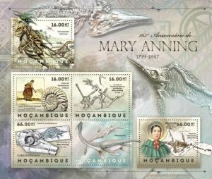 MOZAMBIQUE 2012 SHEET MARY ANNING FOSSILS