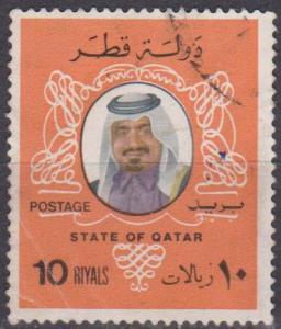Qatar #556 F-VF Used CV $7.00 (A12673)