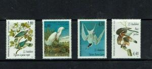France: 1995, Bird Paintings by Audubon, MNH set