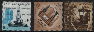EGYPT, 670-672, (3) SET, HINGED, 1965, 13th anniv. of the revolution
