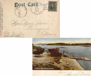 United States Maine Port Clyde 1906 doane 2/4  PPC (Castine, Me. Hutchins Lan...
