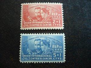 Stamps - Cuba - Scott# B1-B2, Mint Hinged Set of 2 Semi-Postal Stamps