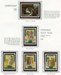 VATICAN CITY 1997  COMPLETE YEAR SET STAMPS WITH BOOKLET MINT NH ON ALBUM PAGES