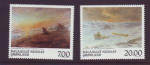 Greenland Sc 349-0 1999 Rosing Paintings stamps mint NH