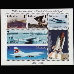 GIBRALTAR 2003 - Scott# 937a S/S Flight Cent. NH
