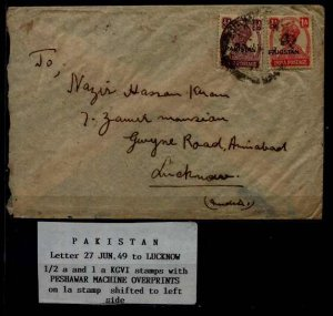 Pakistan/India used cover 27.6.49