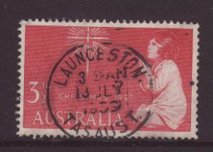 1957 Australia 3½d Launceston CDS F/U SG298
