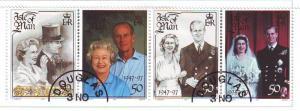 Isle of Man Sc 761 1997 Golden Wedding stamp set used