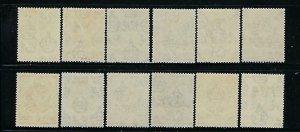 SWAZILAND SCOTT #27-37(PLUS #29A) 1938 GEORGE VI SET  - MINT EXTRA LIGHT HINGED