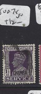 INDIA CHAMBA  (PP0807B) KGVI   SG O78     VFU