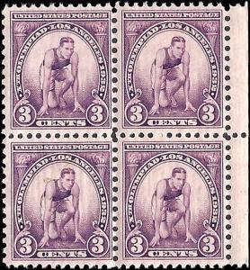 718 Mint,OG,NH... Block of 4... SCV $8.00