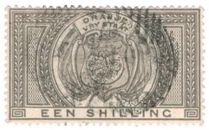 (I.B) Orange Free State Revenue : Duty Stamp 1/-