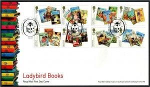 HERRICKSTAMP GREAT BRITAIN Sc.# 3648-55 Ladybird Books First Day Cover