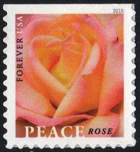 5280 Peace Rose US Single Mint/nh FREE  SHIPPING