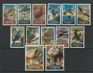 Gibraltar 2008 Birds of the Rock defs, The original 13 values only MM