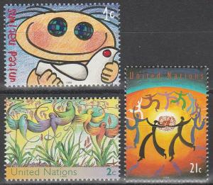 United Nations #727-9 MNH  (S2997)