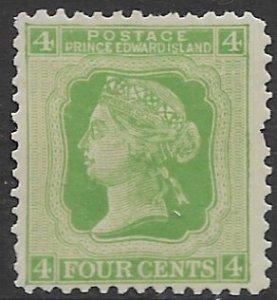 Prince Edward  Island 14    4 cents  fine mint - short perf rt side