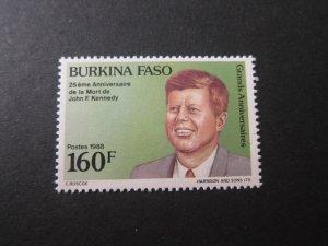 Burkina Faso 1988 Sc 862 John F Kennedy set MNH