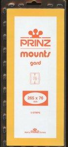 Prinz Mounts,76(h) x 265(l), (265x76), Clear - 5 strips.