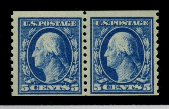447 MINT PAIR F-VF OG LH Cat$220