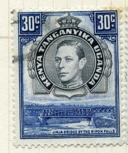KENYA/UGANDA/TANGANYIKA; 1938 early GVI issue fine used value, 30c. (101318)