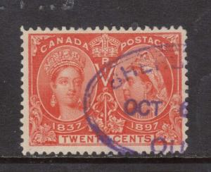 Canada #59 VF Used With Sherbrooke QC Purple Oval Cancel